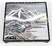 Japanese Mountain Scene Trivet