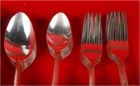 Silver Plated Partial Flatware Set