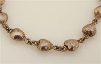 Sterling Bracelet with Hearts