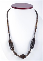 Two Bone Necklaces Brown & Ivory