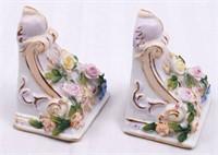 Miniature Vintage Floral Wall Sconces