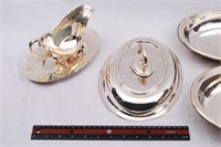 Silverware Chafing Dishes & Gravy Boat
