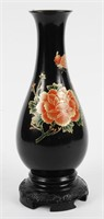 Japanese Hand Painted Resin Vase