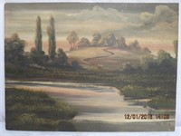 """Unframed painting signed Rich Bradt 27.5 X 20.5"""""""
