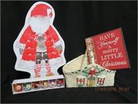Santa nativity calendar,Christmas basket,