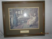 "Framed ""Country Clients"" print Lawyers Office sign"