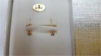 14 KT. YELLOW GOLD DIAMOND STUD EARRINGS RETAIL