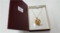 STERLING SILVER YELLOW GOLD PLATED GENUINE