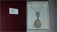 STERLING SILVER GENUINE MOONSTONE (17.54 CTS) &