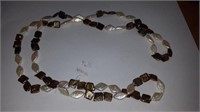 GENUINE FRESHWATER PEARL BAROQUE NECKLACE -