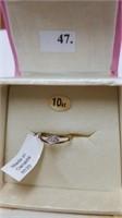 10 KT. YELLOW GOLD DIAMOND BABY RING, PERFECT
