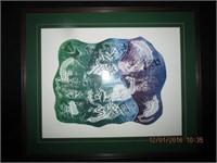 """Framed Serigraph print """"Haphazard"""" signed"""
