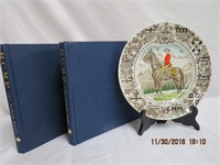 """2 RCMP """"The March West"""" books and RCMP plate"""