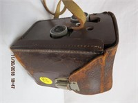 Rolleicord camera in leather case