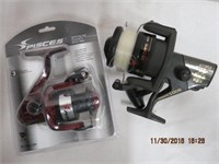 Shimano reel and a Pisces new spinning reel