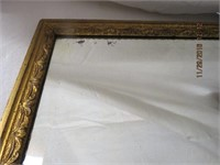 "Framed beveled plate glass mirror 41.5 X 19.5""H"