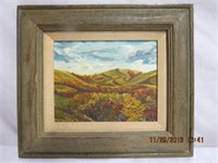 Framed oil on canvas signed E. Statham overall