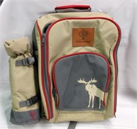 CANADIANA Canvas Picnic Knapsack with Utensils