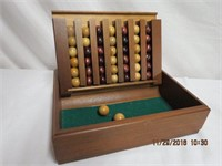 """Game in wooden box 9 X 11.5 X 3""""H"""