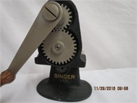 Singer crimper, leather box, Handyhot whipper,