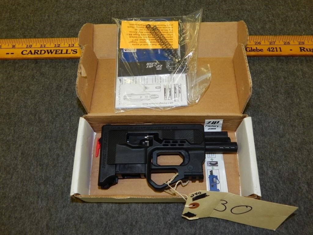 Usfa Zip Gun 22 Lr Appears New In Box Stagecoach Auctions By Wallace