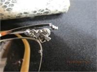 Vintage eye glasses and case