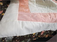 Hand made quilt Ragged Robin design queen size