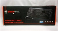 BLACKWEB Wireless Combo Keyboard and Mouse