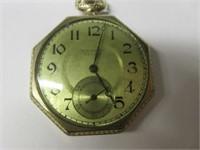 Early WALTHAM De Luxe Pocket Watch- Working