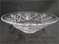 "Crystal Cross and Olive 10"" bowl 3.75""H"