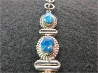 Ladies Blue Oval Gemstone Bracelet
