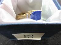 Ornate Blue Jasper Gemstone Ring