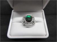 Stunning Ladies Ammolite Gemstone Ring