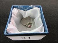 Ladies Ruby Gemstone Ring