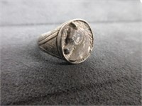 Sterling Silver Horse Motif Ring