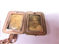 Early PREMIER Watch Fob with Picture Locket