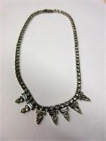 Vintage SHERMAN Ladies Rhinestone Necklace