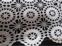 "Crochet Lace tablecloth 96 X 80"""