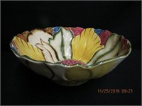 "Radford floral bowl 10"" across 4""H"