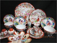 Collection of Oriental china, serving tray,
