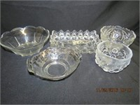 Collection of glass serving bowls