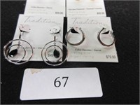 Lot of 4 Ladies Sterling Silver and Cubic Zirconia