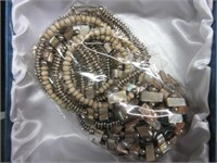 Ladies Gold and Silver Toned Beaded Bracelet and N