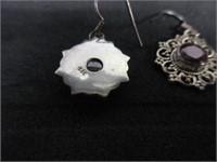 Ladies Sterling Silver Victorian Style Earrings