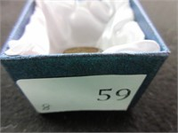 Ladies Blue Gemstone Filigree Ring