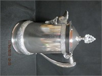 "Victorian silver hot water pot 13""H"