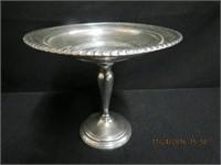 """Sterling silver pedestal bowl 7 X 6""""H"""