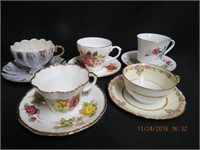 5 cups and saucers
