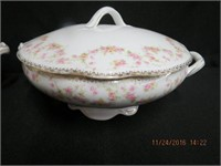 Bridal Rose dinnerware combination of Limoges,
