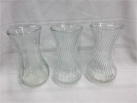 Lot of 3 Glass Vases